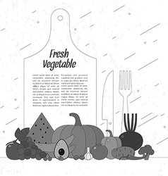 Fresh vegetables Organic food Elements and icons vector image vector image