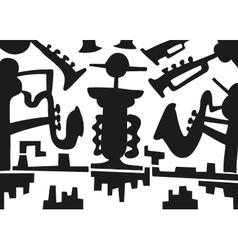 Jazz musicians -doodles vector image