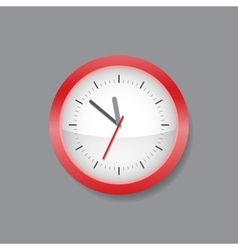 Red wall clock vector image