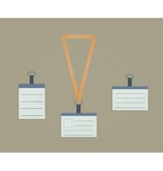Retractor lanyard and badge vector image