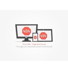 web page 404 error creative design vector image vector image