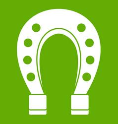 horse shoe icon green vector image vector image
