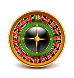 Roulette top view isolated on white vector image vector image