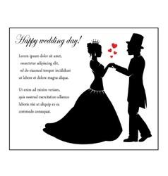 Wedding in retro style vector