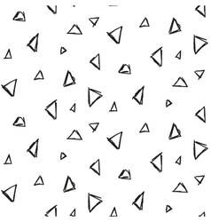 Abstract triangle ink imitation seamless pattern vector