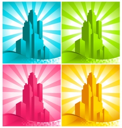Colorful Skyscrapers vector image vector image