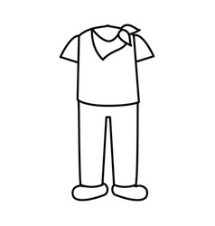 latin typical costume male vector image