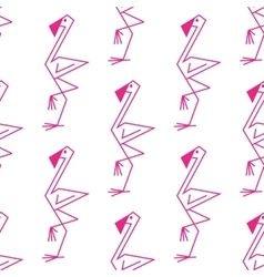 Pink flamingo seamless pattern vector