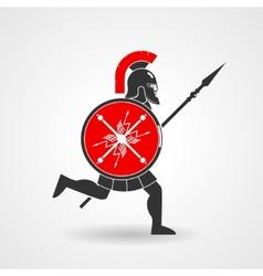 Ancient legionnaire warrior icon vector image vector image
