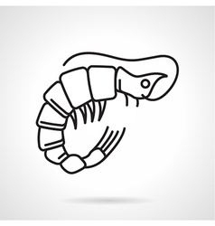 Black line icon for shrimp vector image
