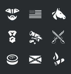 set of civil war usa icons vector image