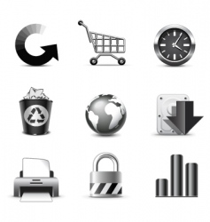 web icons series vector image vector image