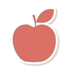 Apple fruit school gift vector