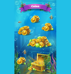 atlantis ruins - mobile format the coins window vector image