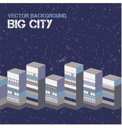 Big city background vector