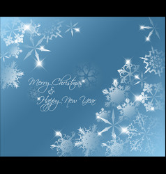 Blue abstract christmas background vector