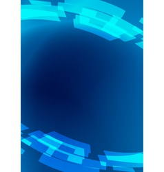 blue flyer - abstract background vector image