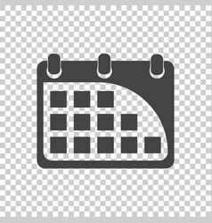 Calendar icon flat vector