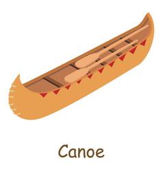 Canoe icon isometric 3d style vector