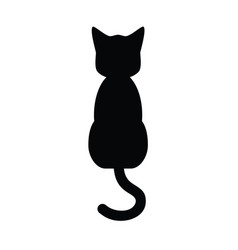 Cat siting icon vector