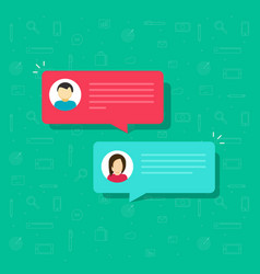 chat bubble icon flat messages bubbles vector image