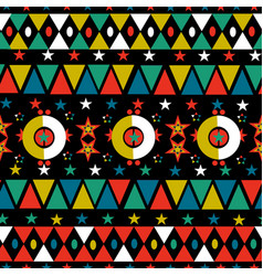 christmas retro folk holiday seamless pattern vector image