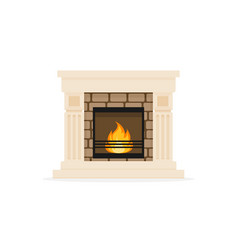 classic home fireplace furniture vector image