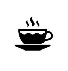 coffee or tea cup glyph icon vector image