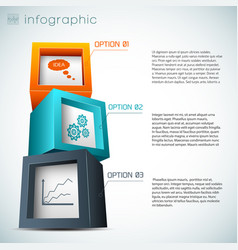 Composition from cubes infographics vector