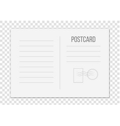 creative of postcard isolated vector image