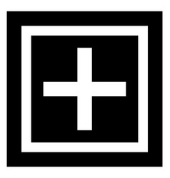Cross sign vector