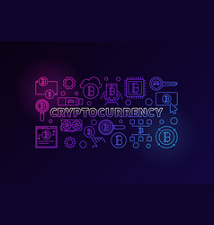 cryptocurrency colorful vector image