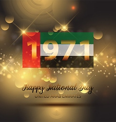Decorative background for UAE National Day vector image