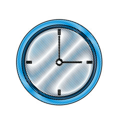 Drawing business clock timer hour break icon vector