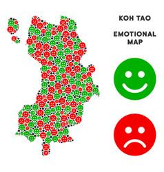 Emotion koh tao thai island map mosaic of vector