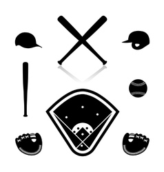 Equipment for baseball vector