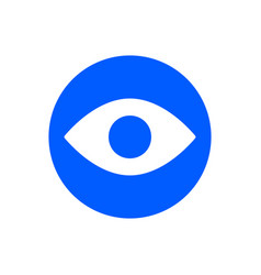 eye glyph icon vector image