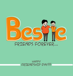 friendship day typography vector image