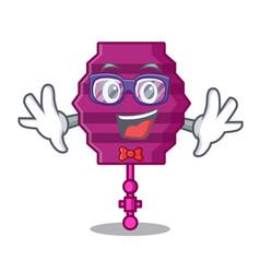 geek paper lantern character cartoon vector image