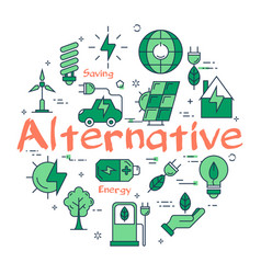green alternative concept vector image