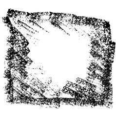 Grunge black sponge frame Textured vector image