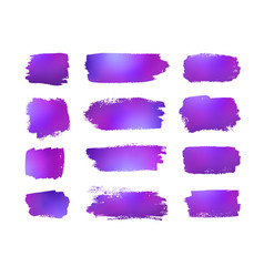 grunge violet banners on white background vector image