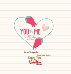 happy valentines day greeting card 7 vector image