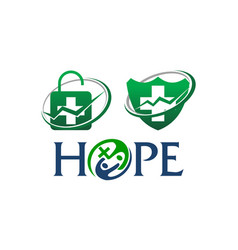 Health hope template set vector