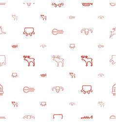 Horn icons pattern seamless white background vector