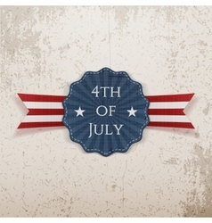 Independence day 4th july greeting tag vector