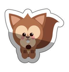Isolated squirrel cartoon design vector