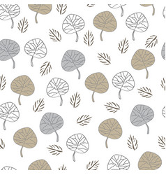 Leaves collection-nature spirit seamless repeat vector