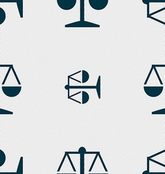 Libra icon sign Seamless pattern with geometric vector