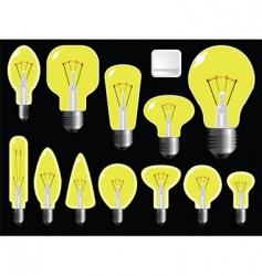 Light bulbs shapes vector